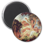The Bathers By Fragonard, Jean-Honoré (Best Qualit 2 Inch Round Magnet