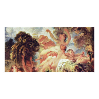 The Bathers By Fragonard, Jean-Honoré (Best Qualit Photo Card Template