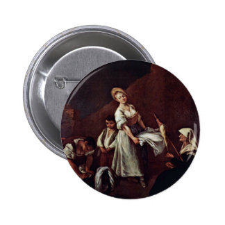 The Bathers By Longhi Pietro (Best Quality) Pinback Button
