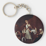 The Bathers By Longhi Pietro (Best Quality) Keychains