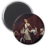 The Bathers By Longhi Pietro (Best Quality) Fridge Magnets