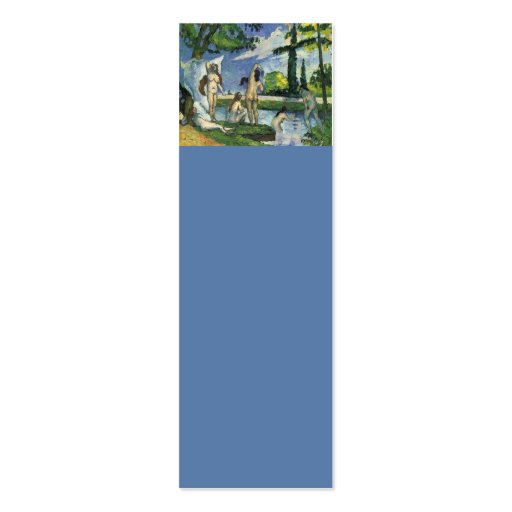 The bathers paul cezanne 1874 business card zazzle for Design your own bathers