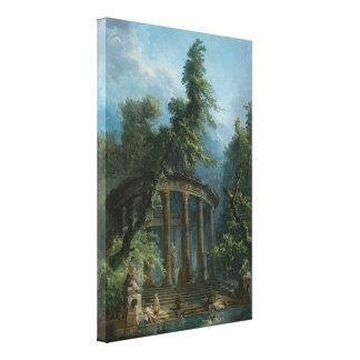 The Bathing Pool - Hubert Robert Canvas Print