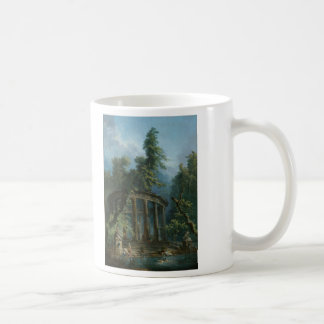 The Bathing Pool - Hubert Robert Classic White Coffee Mug