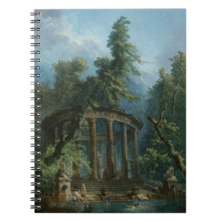 The Bathing Pool - Hubert Robert Notebook