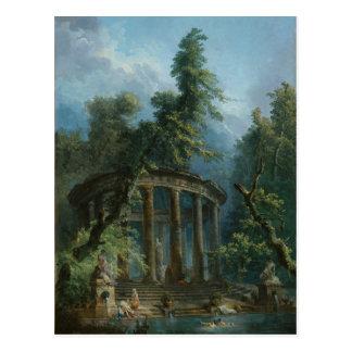 The Bathing Pool - Hubert Robert Postcard