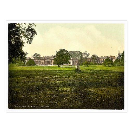 The Baths, Ashby-de-la-Zouch, England vintage Phot Postcard