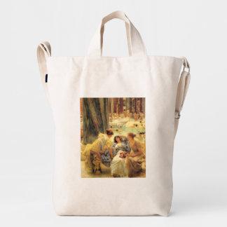 The Baths of Caracalla by Lawrence Alma-Tadema Duck Bag