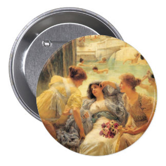 The Baths of Caracalla in detail Pinback Button