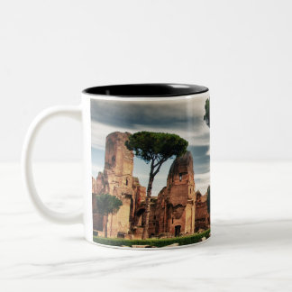 The Baths of Caracalla in Rome Two-Tone Coffee Mug