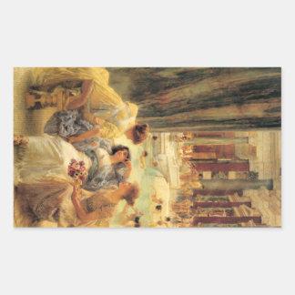 The Baths of Caracalla Rectangular Sticker