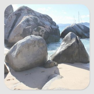The Baths on Virgin Gorda, BVI Square Sticker