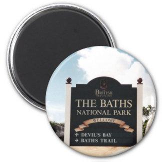 The Baths - Virgin Gorda 2 Inch Round Magnet