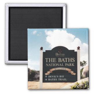 The Baths - Virgin Gorda 2 Inch Square Magnet