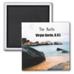 The Baths, Virgin Gorda B.V.I. 2 Inch Square Magnet