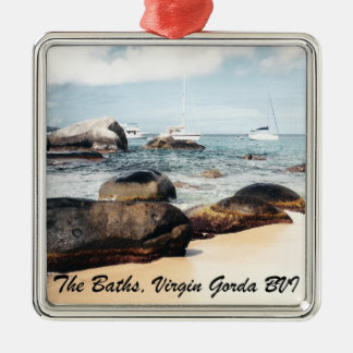 The Baths, Virgin Gorda B.V.I. Metal Ornament