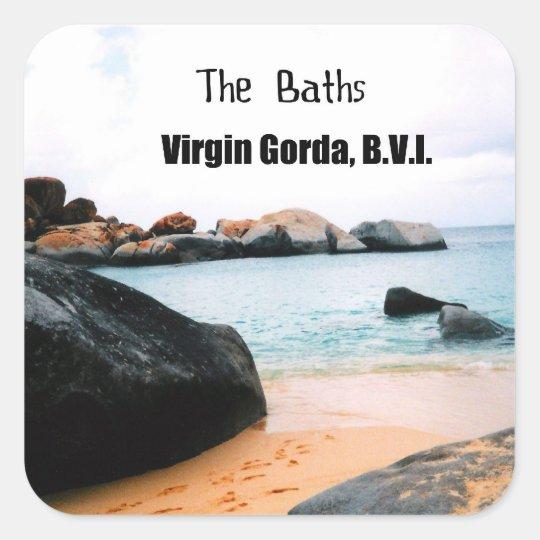 The Baths, Virgin Gorda B.V.I. Square Sticker