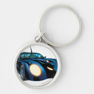 The Batmobile Silver-Colored Round Keychain