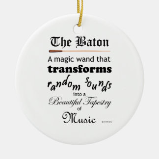 The Baton Ceramic Ornament
