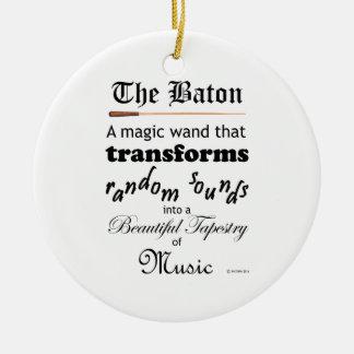 The Baton Christmas Tree Ornaments