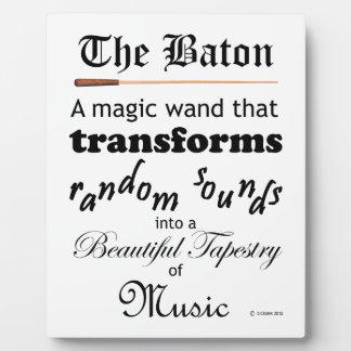 The Baton Plaque
