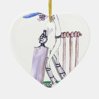 THE BATSMAN cricket, tony fernandes Ceramic Ornament