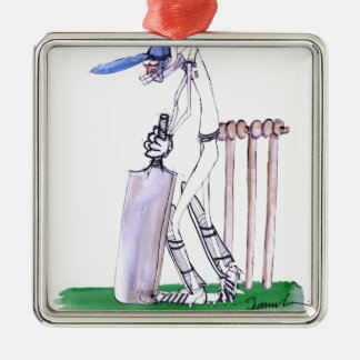 THE BATSMAN cricket, tony fernandes Metal Ornament