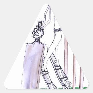 THE BATSMAN cricket, tony fernandes Triangle Sticker