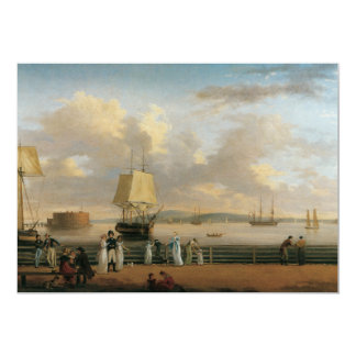 The Battery & Harbor, 1811 Card