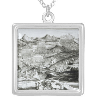 The Battle Array of Carberry Hill Square Pendant Necklace