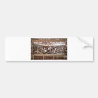 The Battle at Pons Milvius by Raphael Bumper Sticker