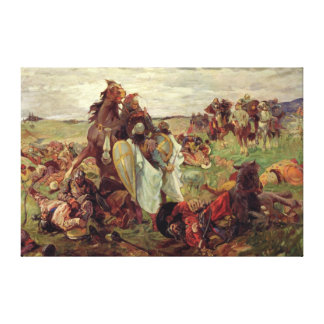 The Battle between Russians and Tatars, 1916 Canvas Print