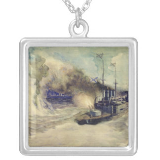 The battle between the Black Sea Fleet and Silver Plated Necklace