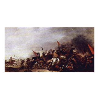 The Battle By Weyer Jacob Best Quality Custom Photo Card