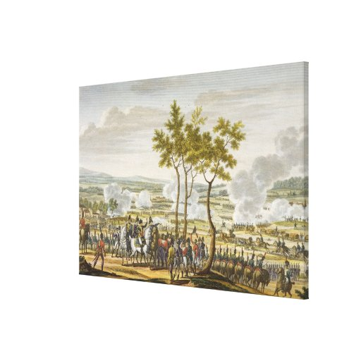 The Battle of Abensberg, 20 April 1809, engraved b Gallery Wrapped Canvas