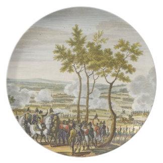 The Battle of Abensberg, 20 April 1809, engraved b Melamine Plate