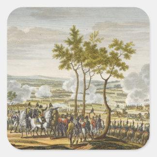 The Battle of Abensberg, 20 April 1809, engraved b Square Sticker
