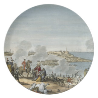 The Battle of Aboukir, 7 Thermidor, Year 7 (25 Jul Melamine Plate