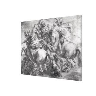 The Battle of Anghiari after Leonardo da Vinci Canvas Print