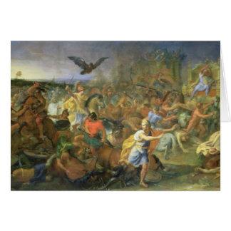 The Battle of Arbela (or Gaugamela) 331 BC, c.1673 Card