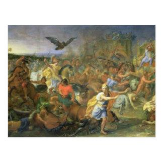 The Battle of Arbela (or Gaugamela) 331 BC, c.1673 Postcard