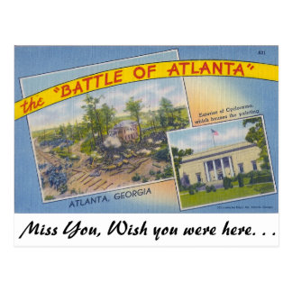 The Battle of Atlanta Postcard