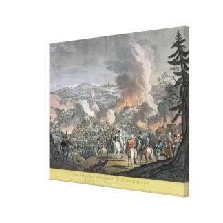 The Battle of Austerlitz, December 2nd 1805 (colou Canvas Print