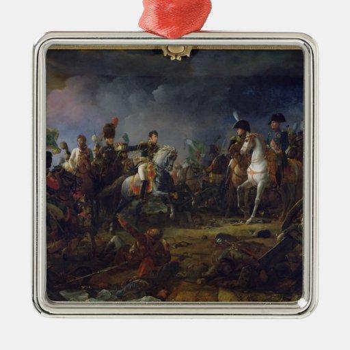 The Battle of Austerlitz Square Metal Christmas Ornament