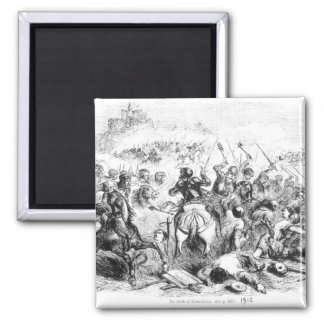 The Battle of Bannockburn in 1314 2 Inch Square Magnet