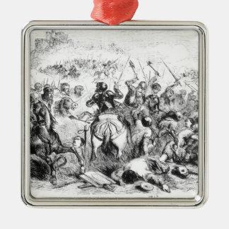 The Battle of Bannockburn in 1314 Metal Ornament