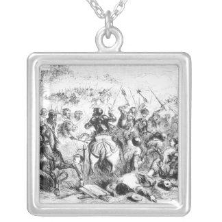 The Battle of Bannockburn in 1314 Square Pendant Necklace