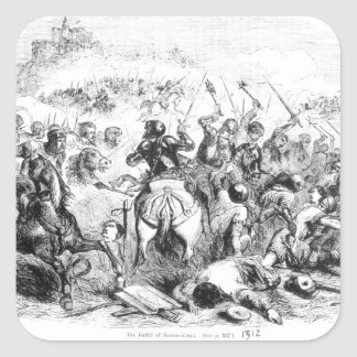 The Battle of Bannockburn in 1314 Square Sticker