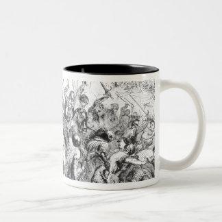 The Battle of Bannockburn in 1314 Two-Tone Coffee Mug