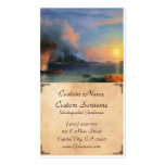 The Battle of Bomarsund Ivan Aivazovsky seascape Business Card Template